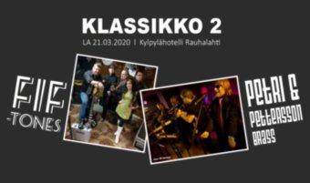 Klassikkoilta 2 la 21.3.: Petri & Pettersson brass, FifTones