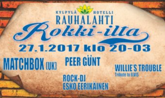 Rokki-ilta pe 27.1.: mm. Matchbox, Peer Günt