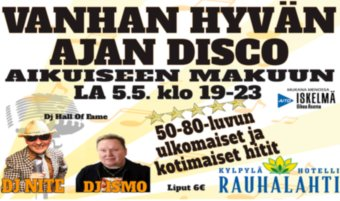 Wanhan hyvän ajan disco la 5.5.